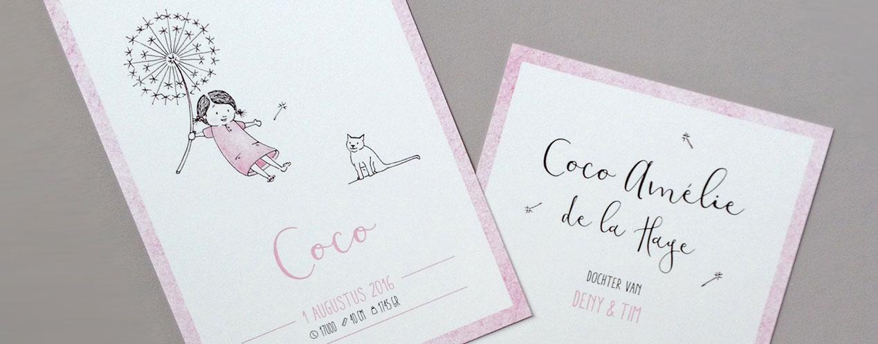 birth announcement Coco