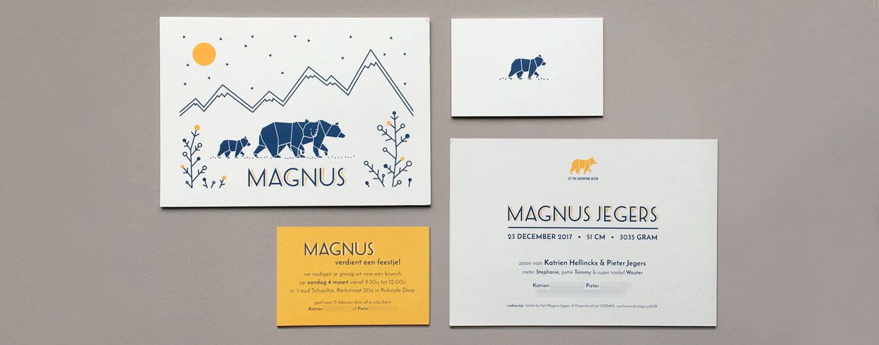 Birth announcement Magnus